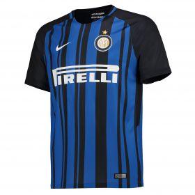 Inter Milan Home Stadium Shirt 2017-18 with Miranda 25 printing