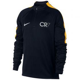 Nike CR7 Squad Drill Top - Black/Laser Orange/Metallic Silver - Kids