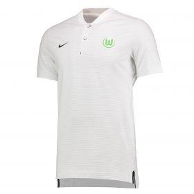 VfL Wolfsburg Authentic Grand Slam Polo - White