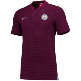 Manchester City Authentic Grand Slam Polo - Maroon