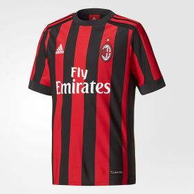 AC Milan Home Shirt 2017-18 - Kids with Bonucci 19 printing