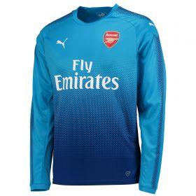 Arsenal Away Shirt 2017-18 - Kids - Long Sleeve with Monreal 18 printing