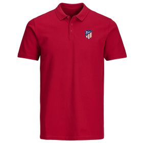 Atlético de Madrid Classic Crest Polo Shirt - Red - Mens