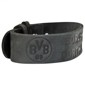 BVB Black Leather Bracelet
