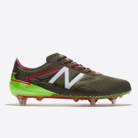 New Balance Furon 3.0 Pro Soft Ground Football Boots - Military Dark Triumph Green/Alpha Pink