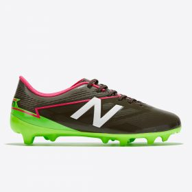 New Balance Visaro 2.0 Mid Level Firm Ground Football Boots - Energy Lime/Military Dark Triumph Green