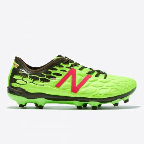 New Balance Visaro 2.0 Pro Firm Ground Football Boots - Energy Lime/Military Dark Triumph Green