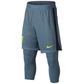 Nike Neymar Dry Squad 2In1 Shorts - Armory Blue/Armory Blue/Armory Navy/Volt - Kids