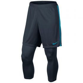 Nike Neymar Dry Squad 2In1 Shorts - Armory Navy/Armory Navy/Lt Blue Lacquer