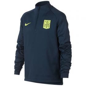Nike Neymar Dry Squad Drill Top - Armory Navy/Armory Navy/Volt - Kids
