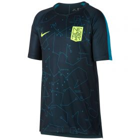 Nike Neymar Dry Squad Top - Armory Navy/Lt Blue Lacquer/Volt - Kids