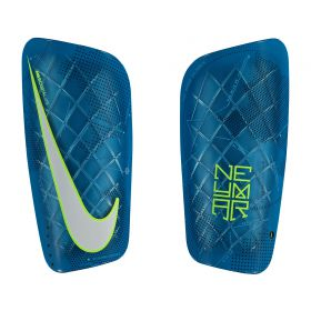 Nike Neymar Mercurial Lite Shinguards - Blue Orbit/Volt/White