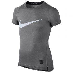Nike Pro Combat Baselayer Top - Grey/White - Kids