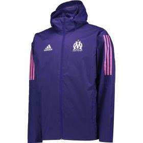 Olympique de Marseille Cup Training Storm Jacket - Purple
