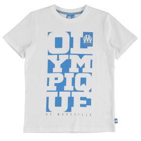 Olympique de Marseille Graphic T-Shirt - White - Boys