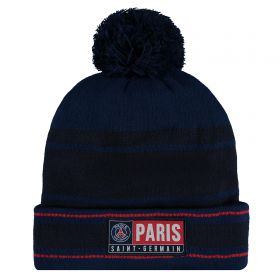 Paris Saint-Germain Bobble Beanie - Navy - Adult