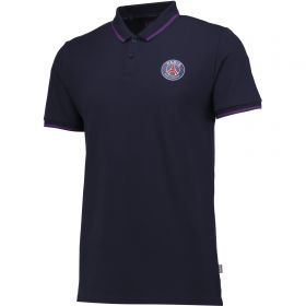 Paris Saint-Germain Polo Shirt - Navy - Mens