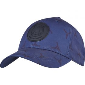 Paris Saint-Germain Repeat Print Cap - Navy - Adult