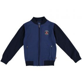 Paris Saint-Germain Retro Full Zip Jacket - Navy - Junior