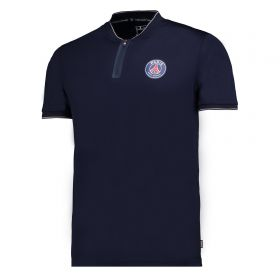 Paris Saint-Germain Retro Polyester Polo Shirt - Navy - Mens