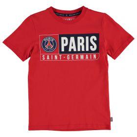 Paris Saint-Germain T-Shirt - Red - Junior