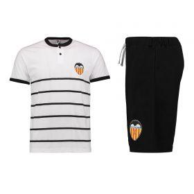 Valencia CF Short Pyjamas - White/Black - Mens