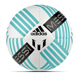 adidas Messi Glider Football - White/Energy Blue/Black - Mini