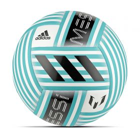 adidas Messi Glider Football - White/Energy Blue/Black/Light Grey - Size 5