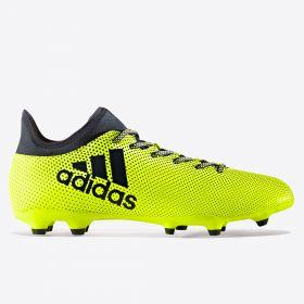 adidas X 17.3 Firm Ground Football Boots - Solar Yellow/Legend Ink/Legend Ink