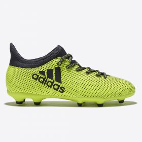 adidas X 17.3 Firm Ground Football Boots - Solar Yellow/Legend Ink/Legend Ink - Kids