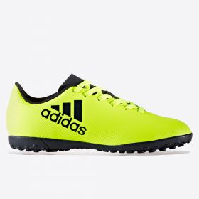 adidas X 17.4 Astroturf Trainers - Solar Yellow/Legend Ink/Legend Ink - Kids