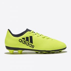 adidas X 17.4 Firm Ground Football Boots - Solar Yellow/Legend Ink/Legend Ink - Kids