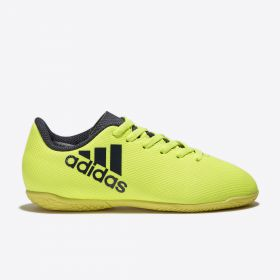 adidas X 17.4 Indoor Trainers - Solar Yellow/Legend Ink/Legend Ink - Kids