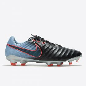 Nike Tiempo Legacy III Firm Ground Football Boots - Black/Armory Navy/Lt Armory Blue