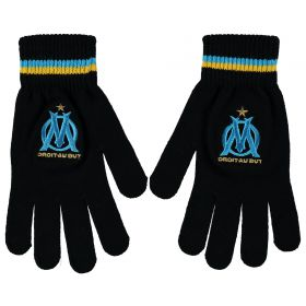 Olympique de Marseille Fan Gloves - Black - Adult