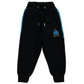 Olympique de Marseille Slim Fit Jog Pants - Black - Boys
