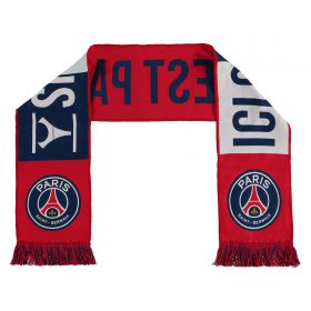 Paris Saint-Germain Ici Cest Paris Scarf - Red/White/Navy - Adult