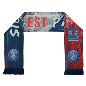 Paris Saint-Germain Ici Cest Paris Sublimated Scarf - Navy - Adult