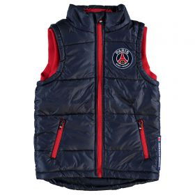 Paris Saint-Germain Padded Gilet - Navy - Junior