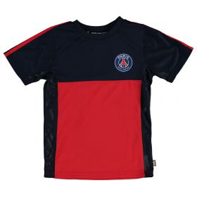 Paris Saint-Germain Polyester T-Shirt - Navy/Red - Junior