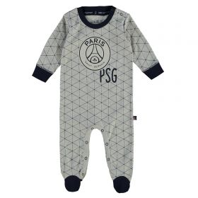 Paris Saint-Germain Sleepsuit - Grey/Navy - Baby