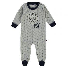 Paris Saint-Germain Sleepsuit - Grey/Navy - Baby