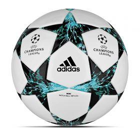 adidas UEFA Champions League Finale 17 Football - White/Core Black/Dark Green - Mini