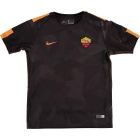 AS Roma Third Stadium Shirt 2017-18 - Kids with De Rossi 16 printing
