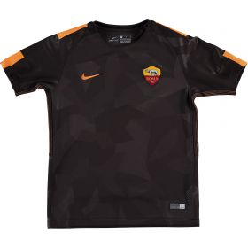 AS Roma Third Stadium Shirt 2017-18 - Kids with Emerson 33 printing
