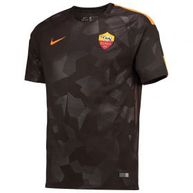 AS Roma Third Stadium Shirt 2017-18 with Strootman 6 printing