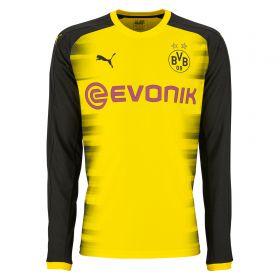 BVB International Home Shirt 2017-18 - Kids - Long Sleeve with Sancho 7 printing
