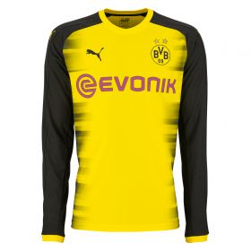 BVB International Home Shirt 2017-18 - Long Sleeve with Sancho 7 printing