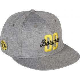 BVB Stretchfit Logo Cap - Grey