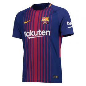 Barcelona Home Vapor Match Shirt 2017-18 with O. Dembélé 11 printing